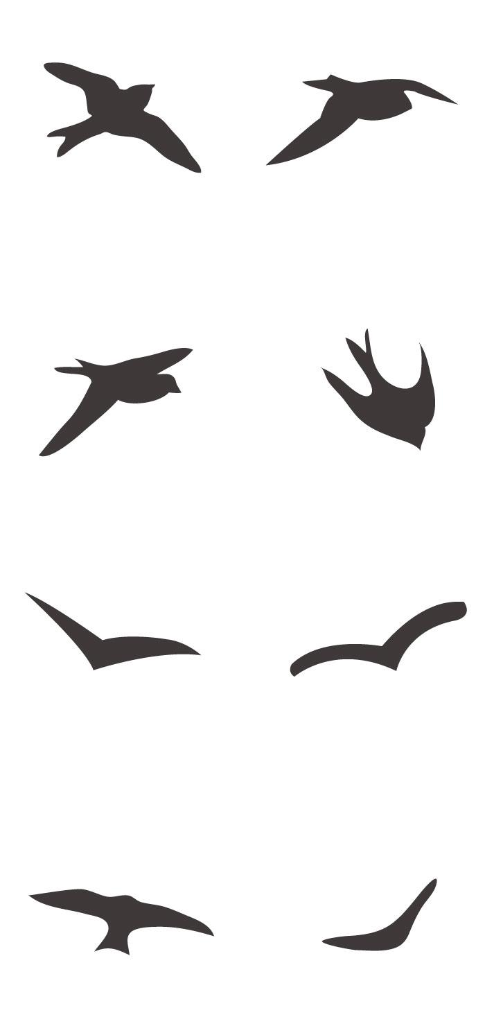 鳥のシルエットの無料イラストaiepsの無料イラストレーター