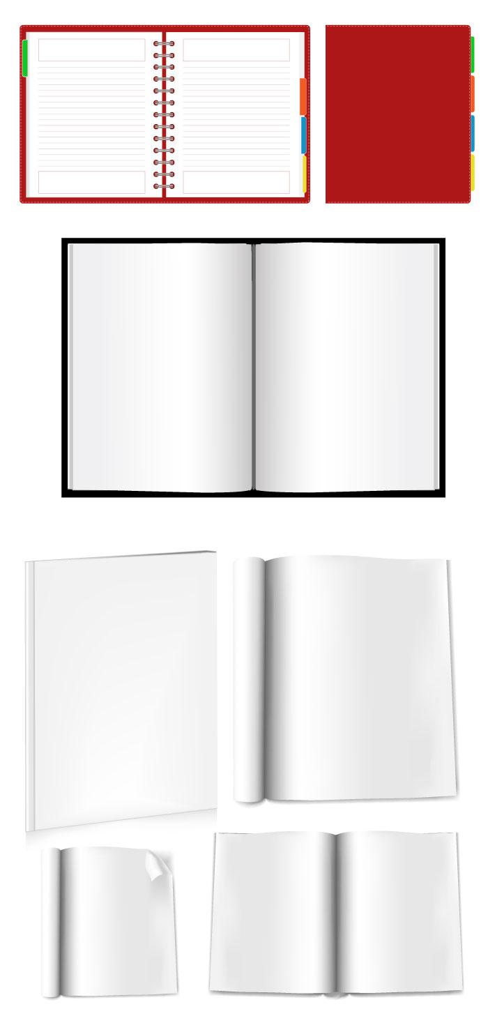 開いた本・手帳の無料イラスト [広告] ▼「開いた本・手帳の無料イラスト」を規約に従いダウンロー