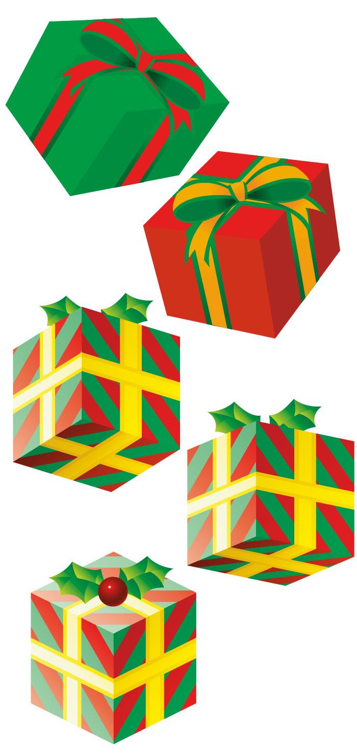 誕生日バースデーやクリスマスのプレゼント箱の無料イラスト AI