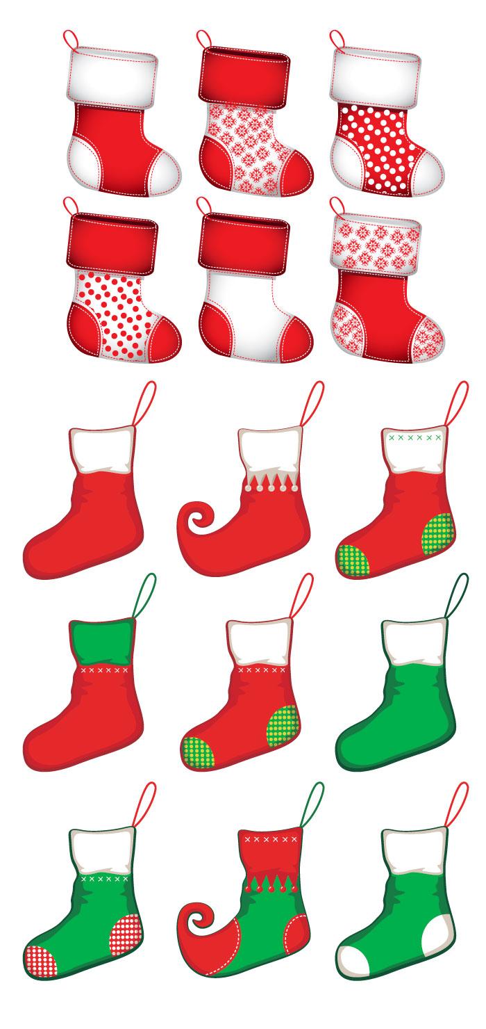 クリスマスの靴下の無料イラスト|AI・EPSの無料